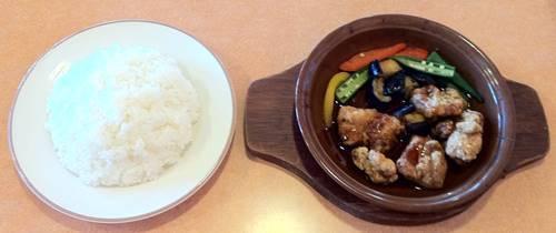 サイゼリヤ ランチ 鶏肉のオーブン焼き.JPG