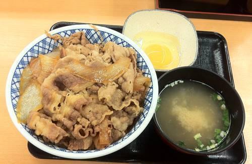 吉野家 超特盛&味噌汁&玉子.JPG