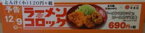 かつや ラーメンコロッケとロースカツ定食.JPG