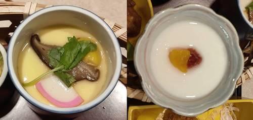 かつ丸 口福御膳 茶碗蒸し&杏仁豆腐.jpg