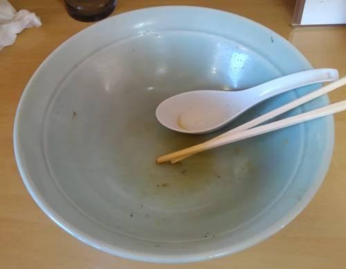 がんこラーメン すべて大盛 完食 丼.JPG
