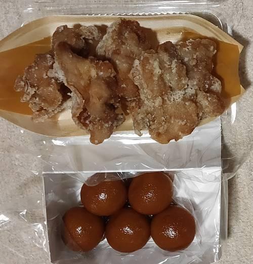 しんごさん饅頭本舗  鶏の唐揚げ&ちびまんじゅう.jpg