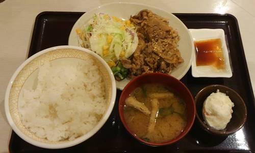 すき家 牛カルビ焼定食.JPG