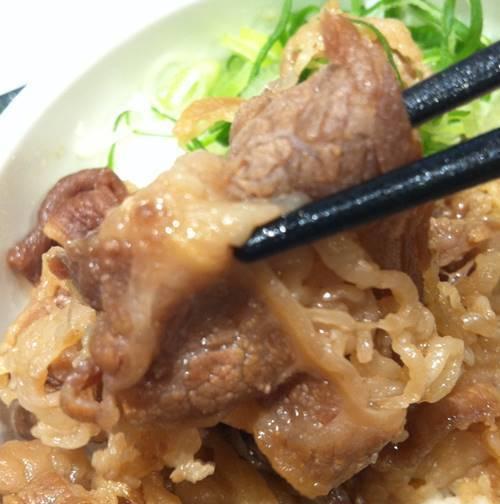 はなまるうどん 牛肉ご飯セット 牛肉.JPG