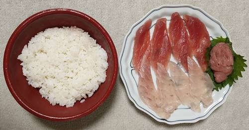 はま寿司 寿司屋のまぐろ丼 まぐろネタ&酢飯.jpg