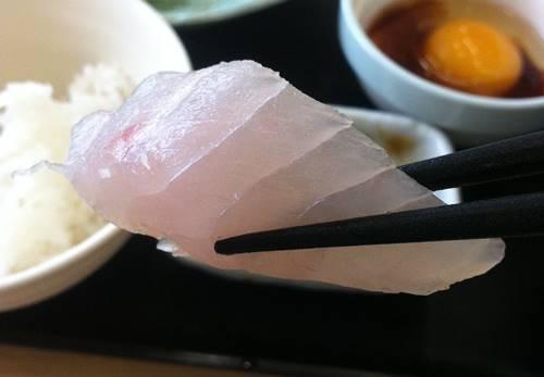 よつくら亭 刺身定食 白身魚1.JPG