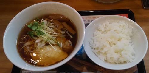 らあめん花月嵐 中華そば しば田&半ライス.JPG