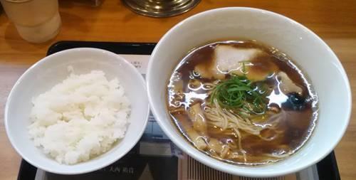 らあめん花月嵐xJapanese Soba Noodles 蔦 醤油Soba&半ライス.JPG