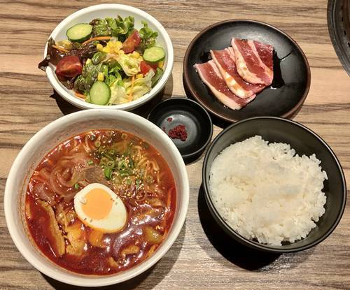カルビ大将 カルビラーメン&焼肉ランチ.jpg