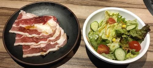 カルビ大将 石焼ビビンバ&焼肉ランチ サラダ&肉.jpg