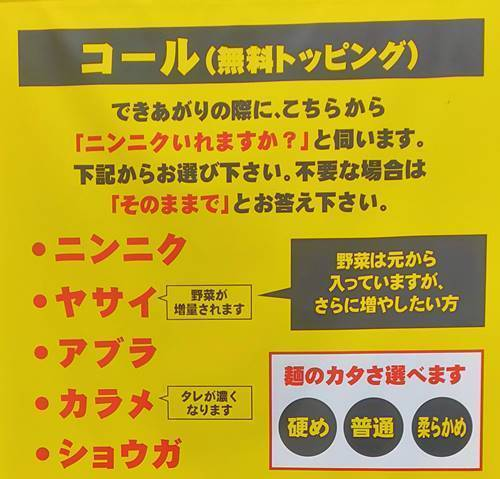 ガッツリラーメン豚いち コール方法.jpg