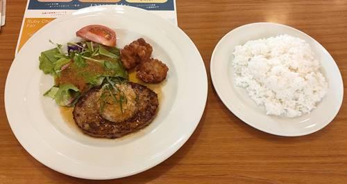 ココス 店長おすすめ日替わりランチ(おろしハンバーグ&鶏の唐揚げ).jpg