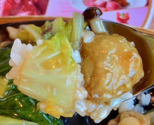 ココス 海鮮あんかけご飯 ランチ 野菜.jpg
