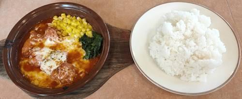 サイゼリヤ 鶏肉のトマトソース煮込みランチ.jpg