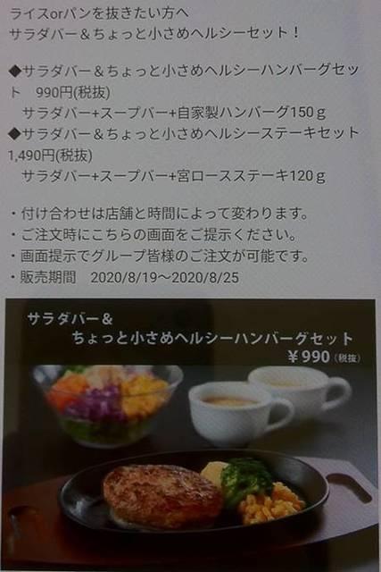 ステーキ宮 サラダバー&ちょっと小さめハンバーグ セット 詳細説明.JPG