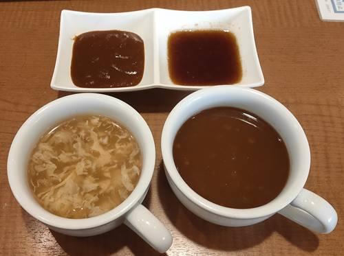 ステーキ宮 ベジカレースープ&鶏としいたけのスープ、デミグラスソース&和風オニオンソース.jpg