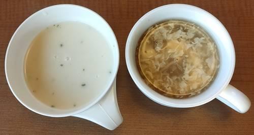 ステーキ宮 鶏肉としいたけのスープ&宮の味わいビシソワーズ.jpg