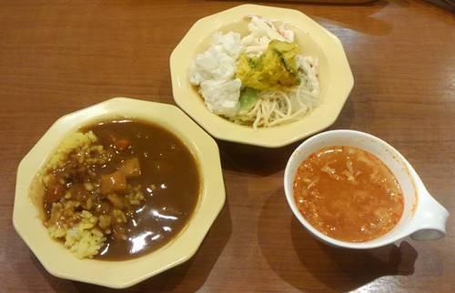 ビッグボーイ カレー&サラダ&スープ1.JPG