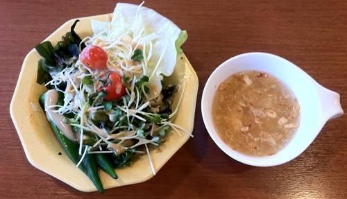 ビッグボーイ サラダ&中華スープ.JPG