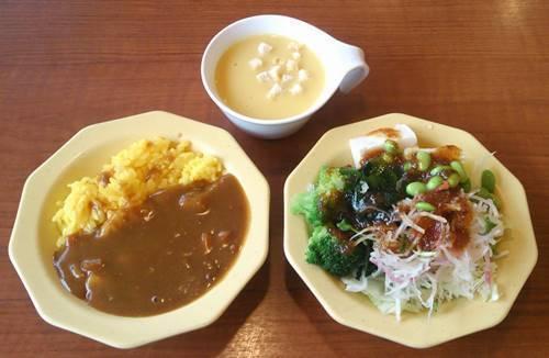 ビッグボーイ ランチ サラダ&カレーライス&スープ.JPG