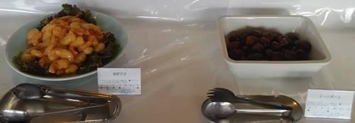 ホテル花天 ランチバイキング 海老マヨ&ミートボール.JPG