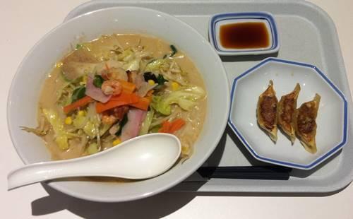 リンガーハット 野菜たっぷりちゃんぽん&餃子.JPG