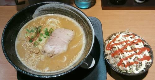 中華そば 風 鶏白湯味噌ラーメン&スパイシーチャーシュー丼.JPG
