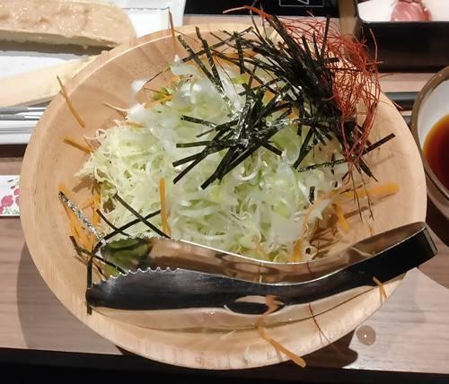 北海しゃぶしゃぶ 食べ放題 チョレギサラダ.jpg