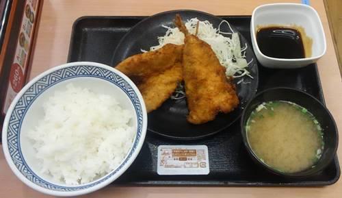 吉野家 アジフライ定食.JPG