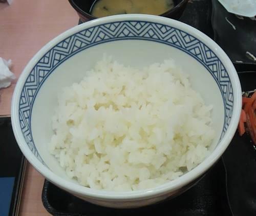 吉野家 定食 普通盛りお替わり.JPG