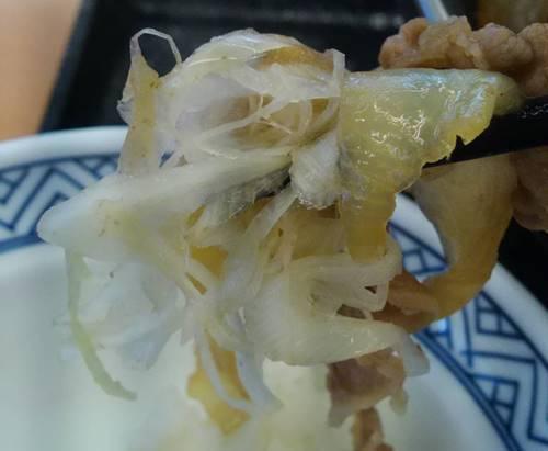 吉野家 牛の鍋焼き定食 ネギ.JPG