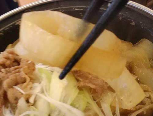 吉野家 牛の鍋焼き定食 玉ねぎ.JPG