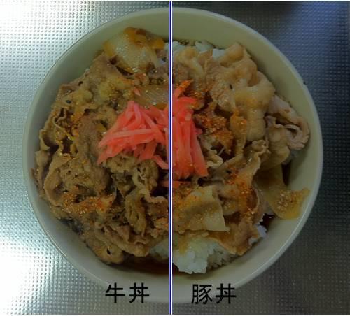 吉野家 牛丼&豚丼.JPG