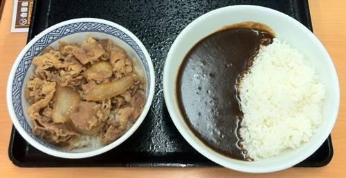 吉野家 牛丼&黒カレー.JPG