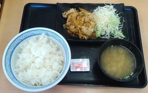 吉野家 豚生姜定食.JPG