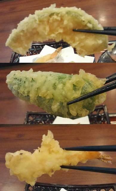 和風レストラン まるまつ 海老&ピーマン&かぼちゃ天ぷら.jpg