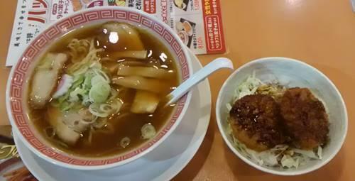 幸楽苑 中華そば&ソースカツ丼.JPG