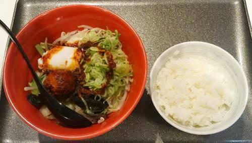 幸楽苑 台湾野菜まぜめん 辛シビ系 ライスセット.JPG