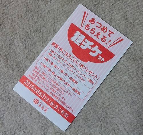 幸楽苑 麺チケット.JPG