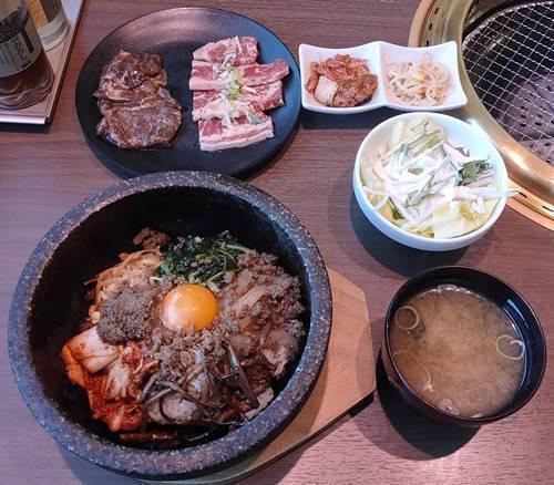 焼き肉や漫游亭 選べる石焼ビビンバ 焼肉ランチ.jpg