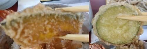 田人味おやじがんこそば カボチャ&瓜の天麩羅.jpg