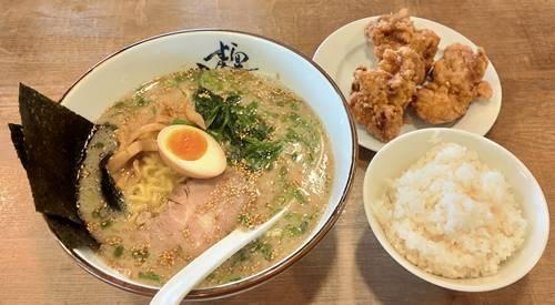 究極ラーメン横濱家 塩とんこつラーメン 鶏の唐揚げAセット.jpg