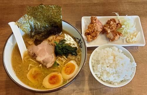 究極ラーメン横濱家 醤油ラーメン味玉&鶏の唐揚げAセット.jpg